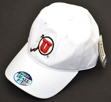 NCAA UTAH UTES Ouray Small Fit Embroidered Cap Hat White One Size
