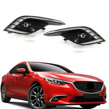 2 Pcs Car ABS Front LED Daytime Running Lights DRL For Mazda 6 Atenza 2016-2018