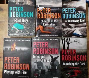 Job lot books 6 Crime fiction Peter Robinson bundle