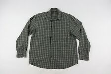 Royal Robbins Mens Large Long Sleeve Plaid Button Front Hiking Collared Shirt