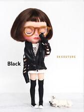 """SKDOLLHOUSE LONG Boots BLACK fit Blythe  Pullip Momoko L 1.6""""x W .47"""" x H 3.15"""""""