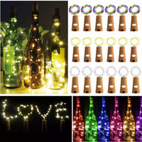6/10/20 PCS LED Warm Cool Wine Bottle Cork Shape Night Fairy Lamp String Lights