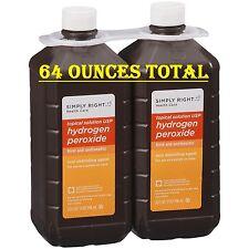 Hydrogen Peroxide 3%,  2-32 Ounce Bottles, Cheaper per ounce, 64 ounces total
