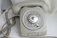 One Vintage 1970s grey telephone rotary Swedish by Eriksson LM