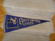 1950's Baltimore Colts Football Script Writing Full Size Pennant