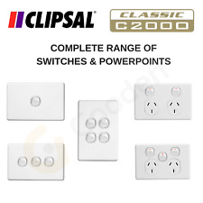 Clipsal Classic (C2000) Switches & Powerpoints - Complete Range