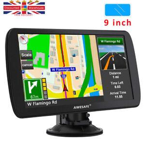 Sat Nav, Latest 9 inch GPS Navigation for Trucks Lorry HGV Caravan, Navs...