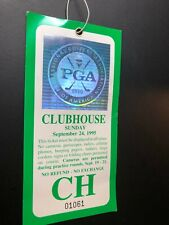 "Vintage 9/24/1995 PGA of AMERICA ""CLUBHOUSE"" USED GOLF TICKET-STUB."