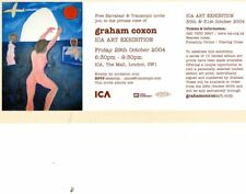 More details for graham coxon (blur) ~private invite to ica art exhibition in london october 2004