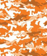 University of Tennessee Volunteers Camo Fleece Fabric-NCAA Fleece Blanket Fabric