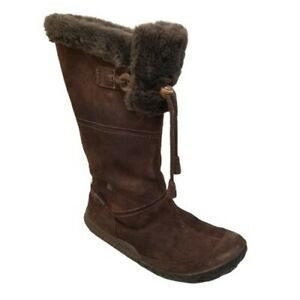 Cushe Cabin Fever Boots Brown 8 Waterproof Exspresso Suede Fur Lined