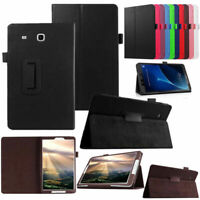"""For Samsung Galaxy Tab E 9.6"""" T560 T561 Tablet Folio Case Cover Stand Leather"""