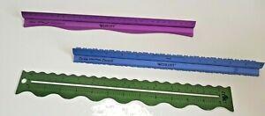 Westcott Grip & Rip Tearing Rulers x 2 PLUS Plaid Wave Rule