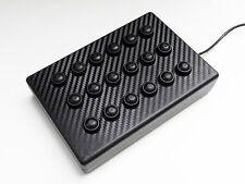 BBJ SIM RACING PC USB 18 pulsante di funzione di nero/carbon vinile fascia