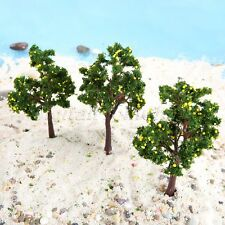 10Pcs Plastic Yellow Fruit Model Trees 110mm OO Scale Layout Scene For Railroad