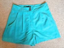 Topshop Turquoise Shorts - Size 10 - Soft Feel Fabric - New