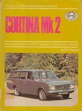 FORD Cortina MK 2 Haynes Proprietari Manuale & manuale di manutenzione non LOTUS