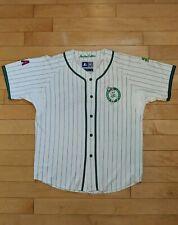 Vintage Boston Celtics Starter Pinstripe Baseball Jersey White - Large - 90s Nba