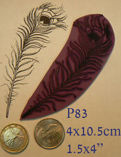 P83 Peacock Feather rubber stamp   Cling Mounted