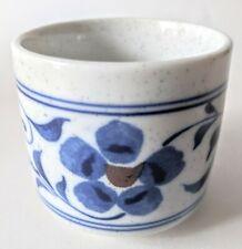 Vintage Otagiri Ceramic Sake Mug Cup Blue Flower
