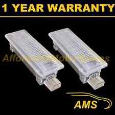 2x per BMW 7 Serie E65 E66 E67 E68 6 WHITE LED penetrazione del pavimento Boot Porta Lampada di cortesia