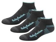 Harley-Davidson Wolverine Women's Comfort Cruiser Riding Socks, 3 Pairs - Black