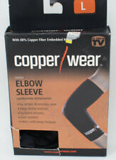 Copper Wear Supportive Athletic Compression Sleeve, Elbow, Black
