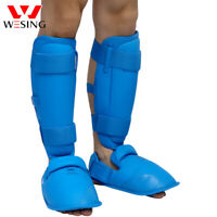 Wesing karate shin guards WKF approved shin instep protector leg Protective Gear