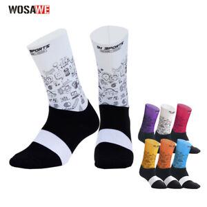 Men Women Cycling Socks Running Breathable Calf Socks Biking Socks Sports Sock