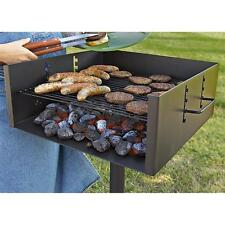 Extra Large Heavy Duty Single Post Park Style Grill Charcoal BBQ Outdoor Cooking