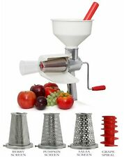 VICTORIO Tomato Strainer & 4 Piece Accessory KIT VKP250  Sauce Maker