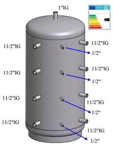 Pufferspeicher Warmwasserspeicher Heizungsspeicher 1000 Liter mit 100mm ISO