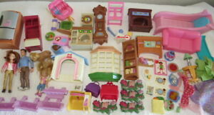 FISHER PRICE LOVING FAMILY Lot Figures Furniture Accessories