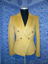 Hobbs London Camel Coloured Wool Fitted Jacket Size 8