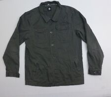 Element Mens Size M Green Button Front Coat Great Condition