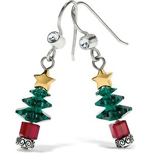 NWT Brighton TINSEL TOWN TREE Christmas Holiday French Wire Earrings NWT $58
