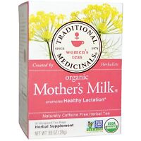 """CERTIFIED ORGANIC NURSING TEA """"MOTHER'S MILK"""" BY TRADITIONAL MEDICINALS 16 BAGS"""