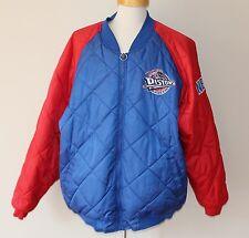 REVERSIBLE Detroit Pistons Basketball Jacket Men's 2XL XXL Quilted Blue Red USG