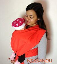 Porte bébé ECHARPE DE PORTAGE CORAIL - Idée cadeau naissance - NISSANOU