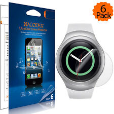 [6-Pack] Nacodex For Samsung Gear S2 Matte Screen Protector Guard Film