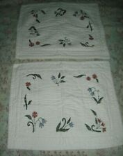 Coming Home / Lands' End Quilted Ivory Standard Pillow Shams 1 pair of 2