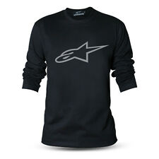 Genuine Official Alpinestars Motocross Superbike Black Long Sleeve Tee T-Shirt