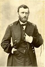 1865 Photo, General Ulysses S. Grant~Mourning Ribbon After Lincoln Assassination
