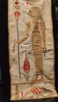 ANTIQUE LARGE EGYPTIAN EMBROIDERY OF QUEEN NEFERTITI