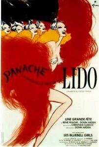 Original vintage poster LIDO PARIS DANCE REVUE GIRLS c.1970