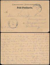Tedesco Africa sud occidentale 1905 soldati Mail Feld cartolina stationery... GIBEON