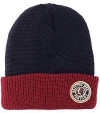 New With Tag!! 100% Authentic Brixton Men's Rival Knit Beanie In Navy/Burgundy