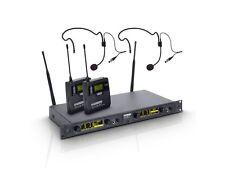 LD Systems WIN 42 BPH 2 - Funkmikrofon System, mit 2 x Belt Pack und 2 x Headset