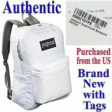 Jansport SUPERBREAK CLASSIC Backpack WHITE - Travel School Bag Knapsack