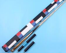 Weichster Burl Ebony Ash One 1 Piece Hand Made Snooker Pool Cue n Case Extension